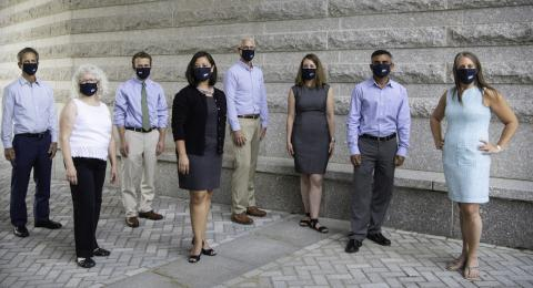 picture of staff in masks